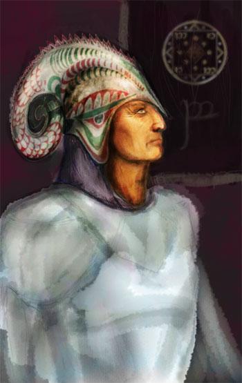 Sketch for portrait of Angamaitë
