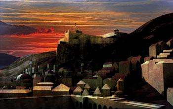 Auringonlasku Gobel Mírlondissa
