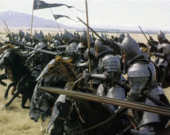 Gondorian cavalry charging