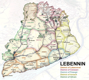 Districts and Counties of Lebennin