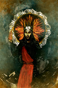 Melkor. Encaustic icon painting from Umbar