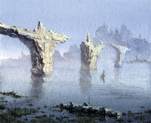 Bridge in ruins